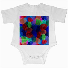 Floral Flower Rainbow Color Infant Creepers