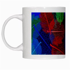 Floral Flower Rainbow Color White Mugs