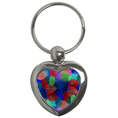 Floral Flower Rainbow Color Key Chains (Heart)
