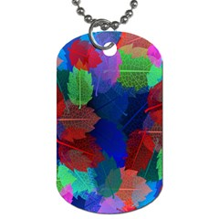Floral Flower Rainbow Color Dog Tag (One Side)