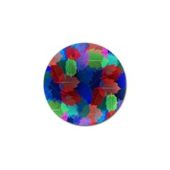 Floral Flower Rainbow Color Golf Ball Marker