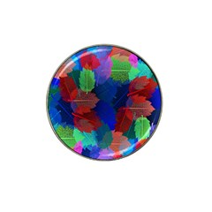 Floral Flower Rainbow Color Hat Clip Ball Marker (10 pack)