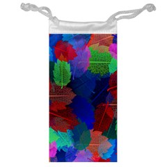 Floral Flower Rainbow Color Jewelry Bag