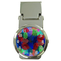 Floral Flower Rainbow Color Money Clip Watches