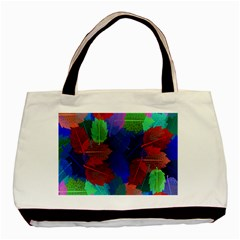 Floral Flower Rainbow Color Basic Tote Bag (Two Sides)