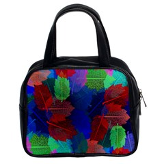 Floral Flower Rainbow Color Classic Handbags (2 Sides)