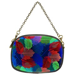 Floral Flower Rainbow Color Chain Purses (One Side)