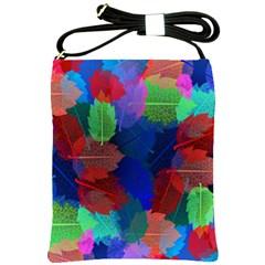 Floral Flower Rainbow Color Shoulder Sling Bags