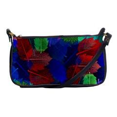 Floral Flower Rainbow Color Shoulder Clutch Bags