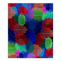 Floral Flower Rainbow Color Shower Curtain 60  x 72  (Medium)