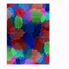 Floral Flower Rainbow Color Large Garden Flag (Two Sides)