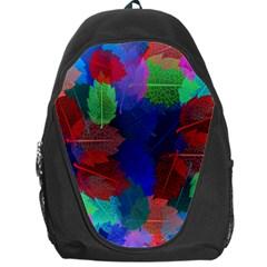 Floral Flower Rainbow Color Backpack Bag