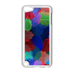 Floral Flower Rainbow Color Apple iPod Touch 5 Case (White)
