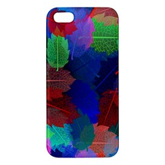 Floral Flower Rainbow Color Apple iPhone 5 Premium Hardshell Case