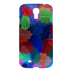 Floral Flower Rainbow Color Samsung Galaxy S4 I9500/I9505 Hardshell Case