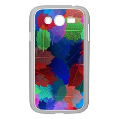 Floral Flower Rainbow Color Samsung Galaxy Grand DUOS I9082 Case (White)