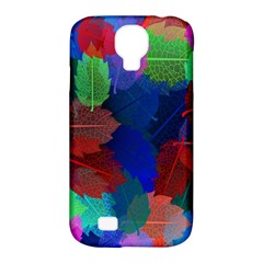 Floral Flower Rainbow Color Samsung Galaxy S4 Classic Hardshell Case (PC+Silicone)