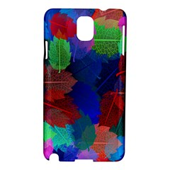 Floral Flower Rainbow Color Samsung Galaxy Note 3 N9005 Hardshell Case