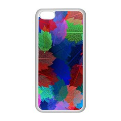 Floral Flower Rainbow Color Apple iPhone 5C Seamless Case (White)