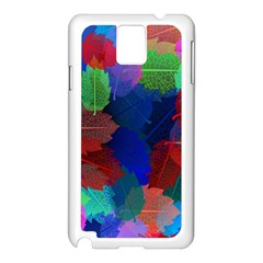 Floral Flower Rainbow Color Samsung Galaxy Note 3 N9005 Case (White)