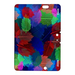 Floral Flower Rainbow Color Kindle Fire HDX 8.9  Hardshell Case