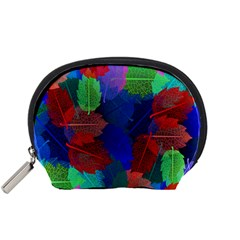Floral Flower Rainbow Color Accessory Pouches (Small)