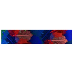 Floral Flower Rainbow Color Flano Scarf (Small)