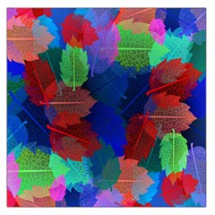 Floral Flower Rainbow Color Large Satin Scarf (Square)