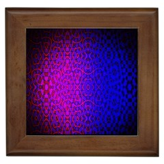 Geometri Purple Pink Blue Shape Pattern Flower Framed Tiles