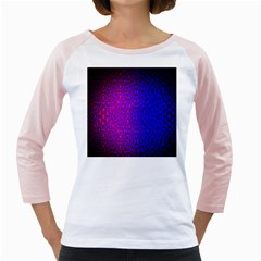 Geometri Purple Pink Blue Shape Pattern Flower Girly Raglans
