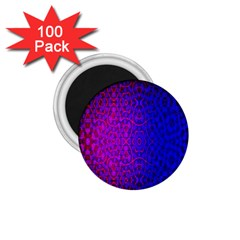 Geometri Purple Pink Blue Shape Pattern Flower 1.75  Magnets (100 pack)
