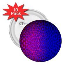 Geometri Purple Pink Blue Shape Pattern Flower 2.25  Buttons (10 pack)