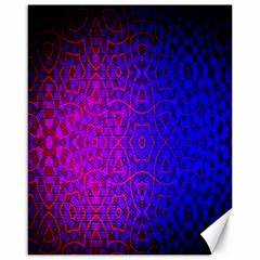 Geometri Purple Pink Blue Shape Pattern Flower Canvas 16  x 20