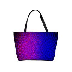 Geometri Purple Pink Blue Shape Pattern Flower Shoulder Handbags