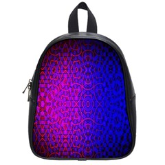 Geometri Purple Pink Blue Shape Pattern Flower School Bags (Small)
