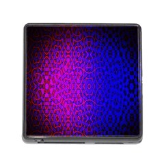 Geometri Purple Pink Blue Shape Pattern Flower Memory Card Reader (Square)