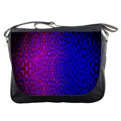 Geometri Purple Pink Blue Shape Pattern Flower Messenger Bags