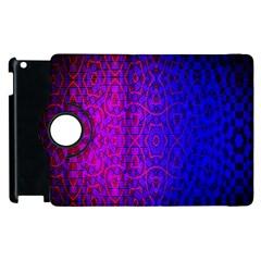 Geometri Purple Pink Blue Shape Pattern Flower Apple iPad 2 Flip 360 Case