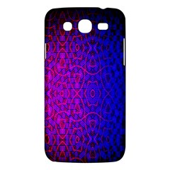 Geometri Purple Pink Blue Shape Pattern Flower Samsung Galaxy Mega 5.8 I9152 Hardshell Case