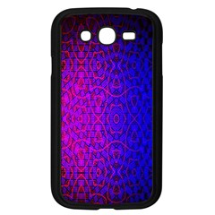 Geometri Purple Pink Blue Shape Pattern Flower Samsung Galaxy Grand DUOS I9082 Case (Black)