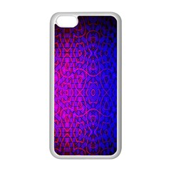 Geometri Purple Pink Blue Shape Pattern Flower Apple iPhone 5C Seamless Case (White)