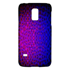 Geometri Purple Pink Blue Shape Pattern Flower Galaxy S5 Mini