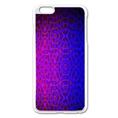 Geometri Purple Pink Blue Shape Pattern Flower Apple iPhone 6 Plus/6S Plus Enamel White Case