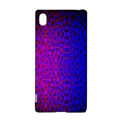 Geometri Purple Pink Blue Shape Pattern Flower Sony Xperia Z3+