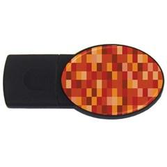 Canvas Decimal Triangular Box Plaid Pink USB Flash Drive Oval (2 GB)
