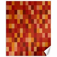 Canvas Decimal Triangular Box Plaid Pink Canvas 16  x 20