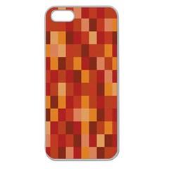 Canvas Decimal Triangular Box Plaid Pink Apple Seamless iPhone 5 Case (Clear)