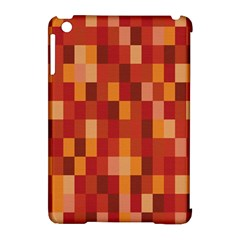 Canvas Decimal Triangular Box Plaid Pink Apple iPad Mini Hardshell Case (Compatible with Smart Cover)