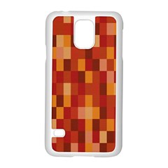 Canvas Decimal Triangular Box Plaid Pink Samsung Galaxy S5 Case (White)
