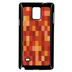 Canvas Decimal Triangular Box Plaid Pink Samsung Galaxy Note 4 Case (Black)